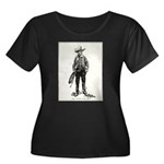 1920s Movie Cowboy Women's Plus Size Scoop Neck Da