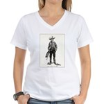 1920s Movie Cowboy Women's V-Neck T-Shirt