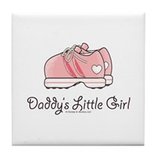 Pink Running Shoes Tile Coaster