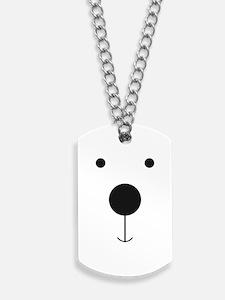 Minimalist Polar Bear Face Dog Tags