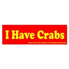 I Have Crabs - Revenge Car Sticker
