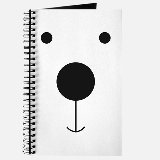 Minimalist Polar Bear Face Journal