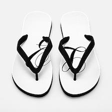 LZ-cho black Flip Flops