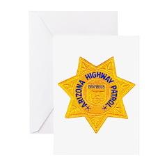 Arizona Highway Patrol Greeting Cards (Package of
