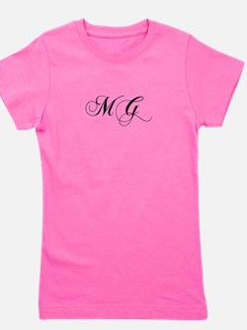 MG-cho black Girl's Tee