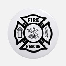 Fire Rescue Ornament (Round)