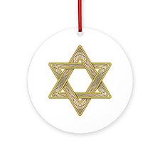 Gold Star of David Ornament (Round)