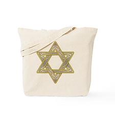Gold Star of David Tote Bag