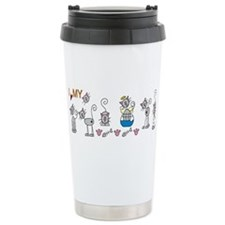 Stick figures Travel Mug