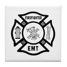 Firefighter EMT Tile Coaster