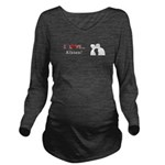 I Love Kisses Long Sleeve Maternity T-Shirt
