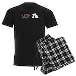 I Love Kisses Men's Dark Pajamas