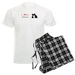 I Love Kisses Men's Light Pajamas