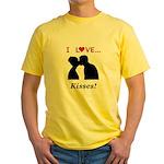 I Love Kisses Yellow T-Shirt