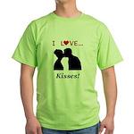 I Love Kisses Green T-Shirt