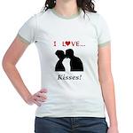 I Love Kisses Jr. Ringer T-Shirt