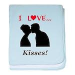 I Love Kisses baby blanket