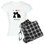 I Love Kisses Women's Light Pajamas