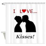 I Love Kisses Shower Curtain