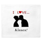 I Love Kisses King Duvet