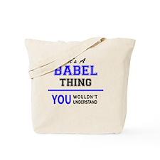 Cute Babel Tote Bag