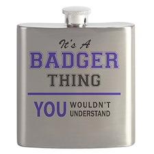 Unique Badger Flask