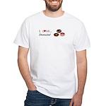 I Love Donuts White T-Shirt