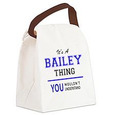 Cute Bailey Canvas Lunch Bag