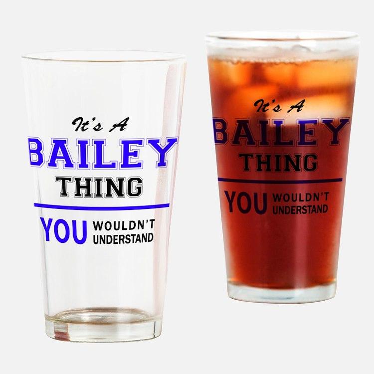 Cute Bailey Drinking Glass