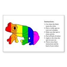 Tree Frog Rainbow Rectangle Decal