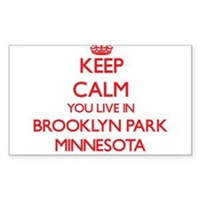 Keep calm you live in Brooklyn Park Minnes Decal