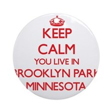 Keep calm you live in Brooklyn Pa Ornament (Round)