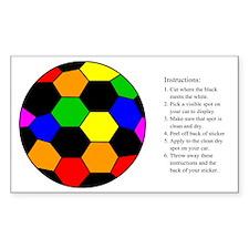 Soccer (Football) Rainbow Rectangle Decal