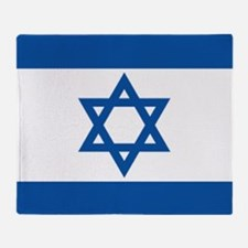 Israeli flag Throw Blanket