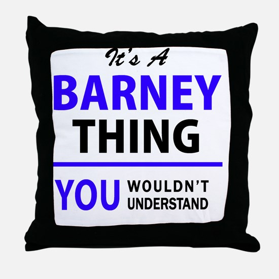 Cute Barney Throw Pillow