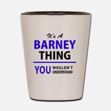 Cute Barney Shot Glass
