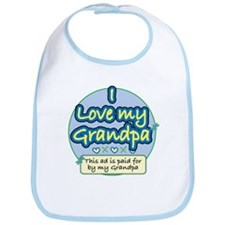 I Love My Grandpa - Blue Bib