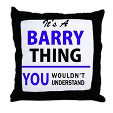Cool Barry Throw Pillow