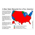 Eight Blue State Secession Postcards