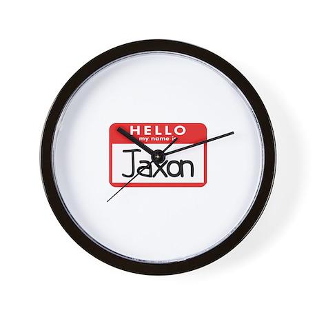 Hello Jaxon Wall Clock