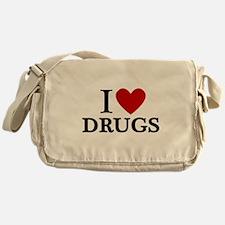 I love Drugs Messenger Bag