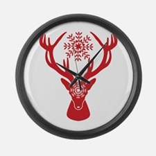Cute Stag party Large Wall Clock
