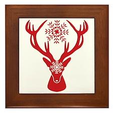 Funny Stag Framed Tile