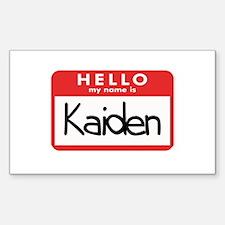 Hello Kaiden Rectangle Decal