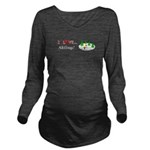 I Love Skiing Long Sleeve Maternity T-Shirt