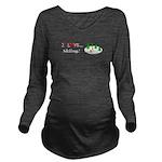 I Love Skiing Long Sleeve Maternity T-Shirt