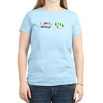 I Love Skiing Women's Light T-Shirt