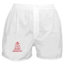 Keep calm you live in Crosby Minnesot Boxer Shorts