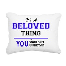 Cute Beloved. Rectangular Canvas Pillow