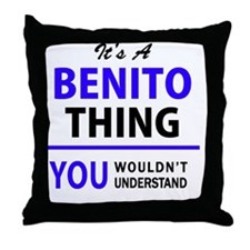 Cute Benito Throw Pillow